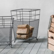 Large Metal Storage Basket