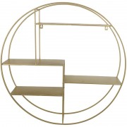 Cohan Wall Shelf Unit in Gold