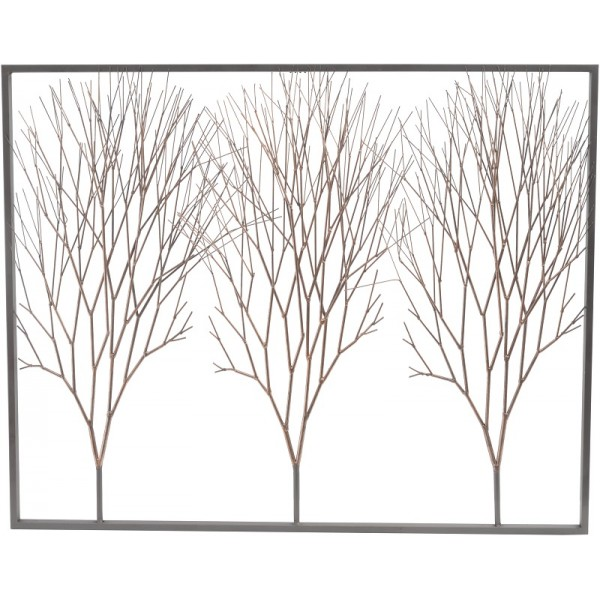 Copper Rose Tree Wall Art