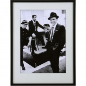 Dean Martin, Sammy Davis Jr. and Frank Sinatra Framed Print