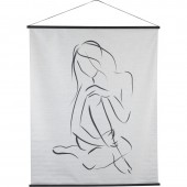 Sitting Female Figure Cotton Hanging Wall Art
