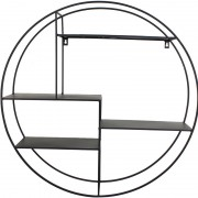 Cohan Wall Shelf Unit in Black