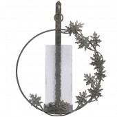 Oak Leaf Circular Wall Sconce
