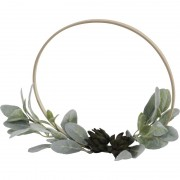 Ornamental Faux Succulent on Bamboo Ring – Large