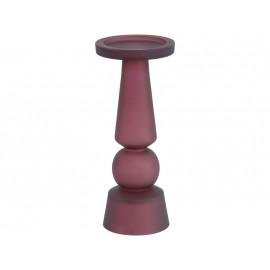 Frosted Claret Glass Pillar Candle