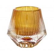 Canya Tealight Holder - Amber 3pk