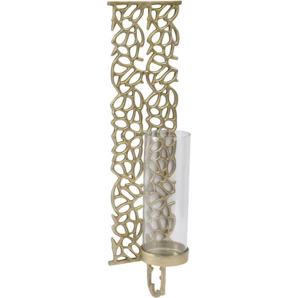 Coral Cage Gold Coloured Aluminium and Glass Wall Sconce-Large