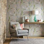 Designer Wallpaper - Saona Silver