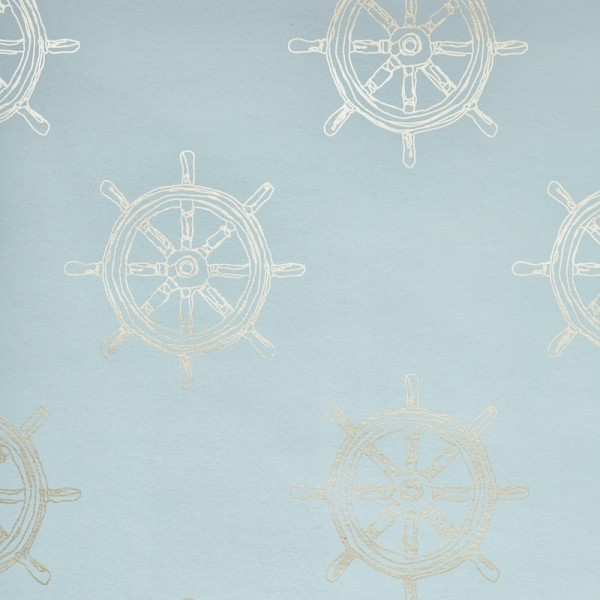 Designer Wallpaper - Salcombe Blue