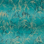 Designer Wallpaper- Meadow Grass Peacock